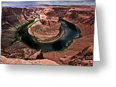 The Arizona Horsehoe Bend Of Colorado River Greeting Card by Ryan Kelly