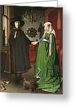 The Arnolfini Marriage Greeting Card by Jan van Eyck