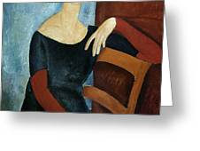 The Artist's Wife Greeting Card by Amedeo Modigliani