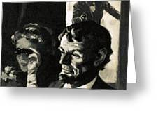 The Assassination Of Abraham Lincoln Greeting Card by English School