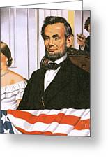The Assassination Of Abraham Lincoln Greeting Card by John Keay