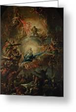 The Assumption Greeting Card by Johann Christoph Lischka
