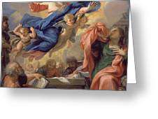 The Assumption Of The Virgin Greeting Card by Guillaume Courtois