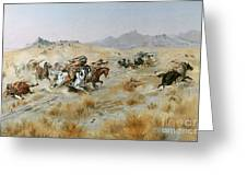 The Attack Greeting Card by Charles Marion Russell