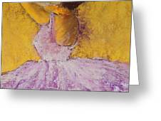 The Ballet Dancer Greeting Card by David Patterson