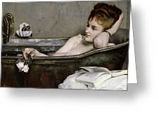 The Bath Greeting Card by Alfred George Stevens