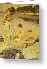The Bathers Greeting Card by Anders Leonard Zorn