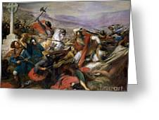 The Battle of Poitiers Greeting Card by Charles Auguste Steuben