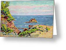 The Baumettes Greeting Card by Jean Baptiste Armand Guillaumin