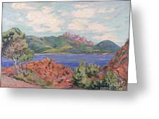 The Bay Of Agay Greeting Card by Jean Baptiste Armand Guillaumin