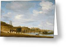 The Beach at Egmond an Zee Greeting Card by Salomon van Ruysdael