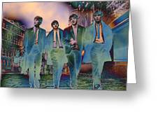 The Beatles Forever Greeting Card by Trish Oliveira