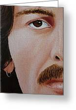 The Beatles George Harrison Greeting Card by Vic Ritchey