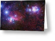 The Belt Stars Of Orion Greeting Card by Robert Gendler