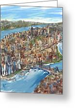 The Big Apple Greeting Card by Russell Pierce