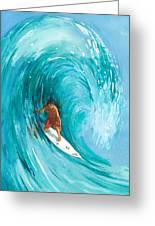 The Big One Greeting Card by Ray Cole