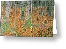 The Birch Wood Greeting Card by Gustav Klimt