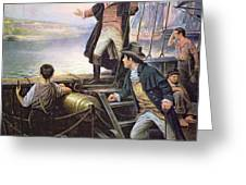 The Birth of the US National Anthem Greeting Card by American School