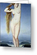 The Birth Of Venus Greeting Card by Eugene Emmanuel Amaury Duval