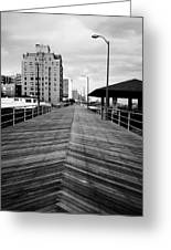 The Boardwalk Greeting Card by Linda Sannuti