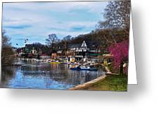 The Boat House Row Greeting Card by Bill Cannon