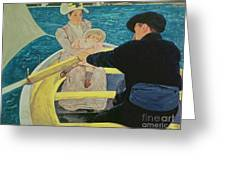 The Boating Party Greeting Card by Mary Stevenson Cassatt