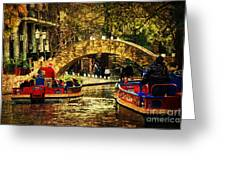 The Boats Greeting Card by Iris Greenwell