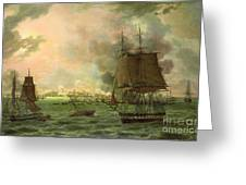 The Bombing of Cadiz by the French  Greeting Card by Louis Philippe Crepin