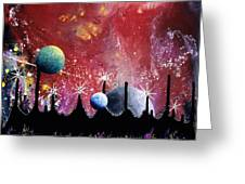 The Border Of Orion Greeting Card by Lee Pantas