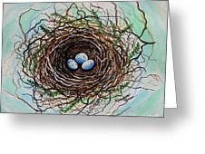 The Botanical Bird Nest Greeting Card by Elizabeth Robinette Tyndall