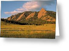 The Boulder Flatirons Greeting Card by Jerry McElroy