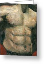 The Boxer Greeting Card by Steve Mitchell