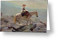 The Bridal Path Greeting Card by Winslow Homer
