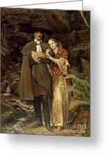 The Bride Of Lammermoor Greeting Card by Sir John Everett Millais