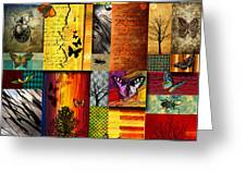 The Butterfly Effect Greeting Card by Ramneek Narang