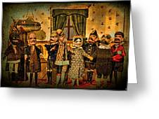 The Cast Takes A Bow Greeting Card by Chris Lord