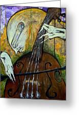 The Celloist Greeting Card by Mark M  Mellon