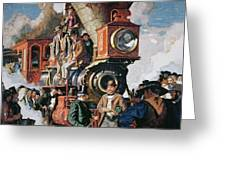 The Ceremony Of The Golden Spike On 10th May Greeting Card by Dean Cornwall