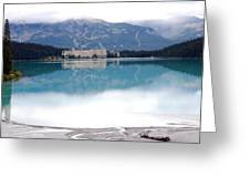 The Chateau At Lake Louise Greeting Card by Harvey Barrison