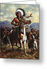 The Chief Greeting Card by Harvie Brown