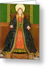 The Child Enthroned Greeting Card by Thomas Cooper Gotch