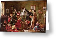 The Christmas Hamper Greeting Card by Robert Braithwaite Martineau