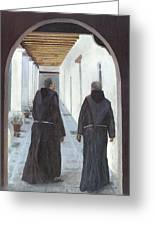 The Cloister Greeting Card by Peter Worsley