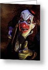 The Clown Greeting Card by Mary Hood