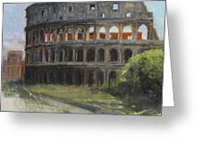 The Coliseum Rome Greeting Card by Anna Bain