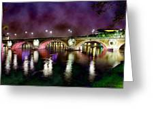 The Color Of The Night. Greeting Card by Marta Eva LLamera
