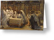 The Communion of the Apostles Greeting Card by Tissot