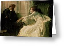 The Confession Greeting Card by Sir Frank Dicksee