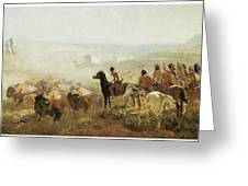 The Conquest Of The Prairie Greeting Card by Irving R Bacon