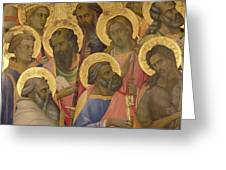 The Coronation Of The Virgin Greeting Card by Lorenzo Monaco